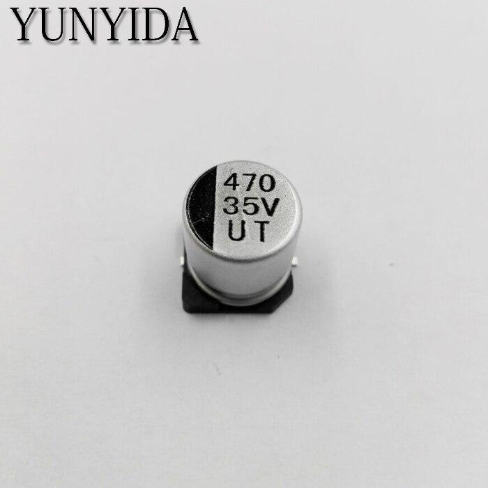 20PCS 4.7uF 50V 4.7MFD 50Volt SMD Electrolytic Capacitor 4mm×5mm