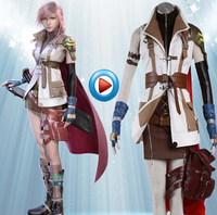 High Quality Custom Made Lightning Cosplay Costume from Final Fantasy XIII Christmas Holloween Plus Size (S 6XL)