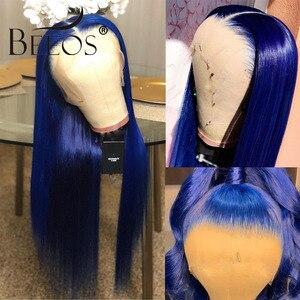 Image 5 - Perruque Lace Front Wig Remy naturelle brésilienne 13x6 Beeos, cheveux humains, naissance des cheveux, pre plucked, avec Baby Hair, 150% de densité