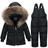 Winter Baby Girl Boy Clothes Sets Down Jackets Toddler Newborn Winter Thickening Suit Clothing Set Winter Snow Jumpsuit Snowsuit