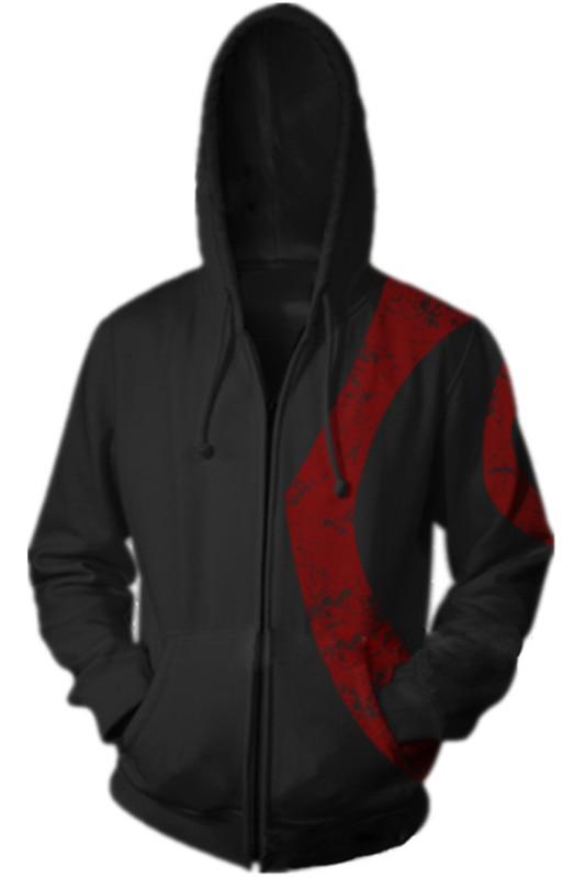 God of War Hoodies Kratos Hoodie Autumn Winter 3D Print Sweatshirts Fashion X-Men Cosplay Casual Zipper Hooded Jacket Men Women