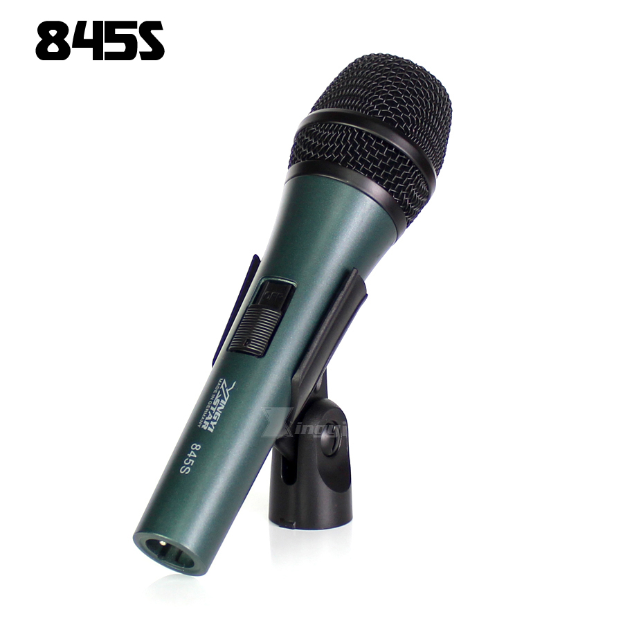 E845s Professional Switch Handheld Super Cardioid Dynamic Vocal Microphone Stand Clip For E845 Karaoke DJ Controller KTV Lecture