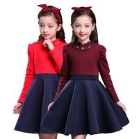 Vintage Toddler Gown Fall 2018 Girls Dresses for Baby Kids Elegant Children Long Sleeve Teenage Princess Graduation Costume Hot