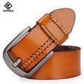 [KAITESICZI]2017 new retro pure leather belt men's fashion men's jeans belt leather belt high quality luxury brand belt