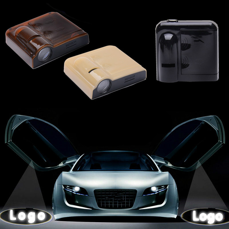 JURUS Wireless 2x LED car door lamp welcome lights Logo laser projector ghost shadow For hyundai linterior light car-styling jurus led car door logo interior light ghost shadow welcome light laset wireless projector for toyota for vw for ford hot sale