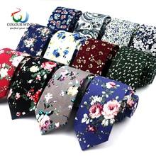 7d2d1d92c7aa Classic Men's Flower Ties Handmade Cotton Tie For Men 6CM Narrow Floral  Neckties Gift Wedding Party
