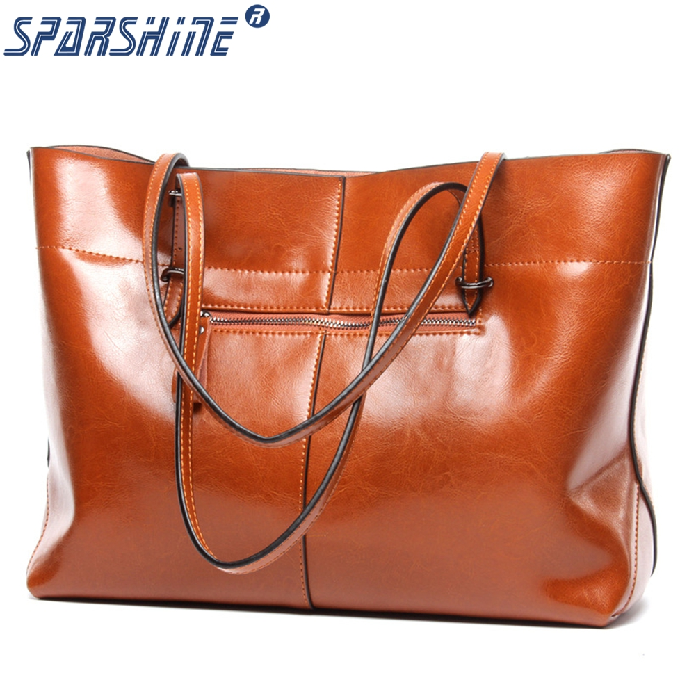 Genuine Leather Bags Ladies Real Leather Bags Women Handbags Casual Tote High Quality Large Capacity Female