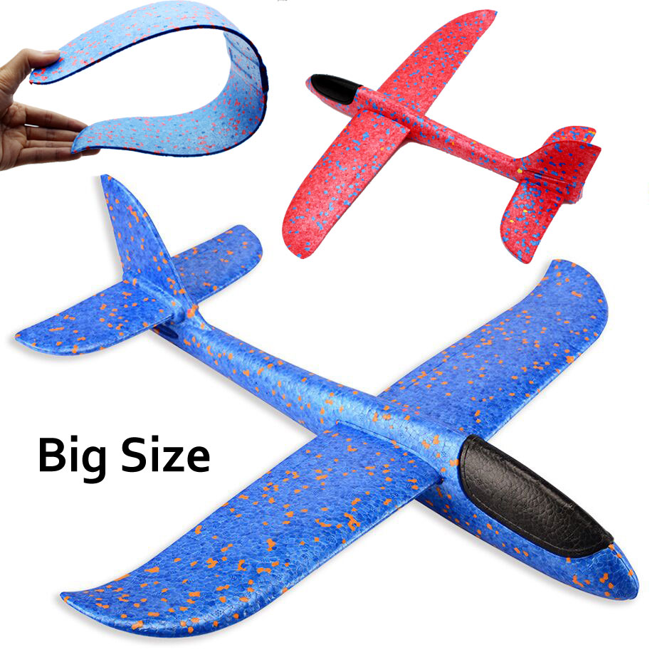 Big Size Airplane Toy Hand Plane Glider Plane Aircraft Foam Plane Toy Outdoor Sports Diy Plane Model Kids Toys Christmas Gift