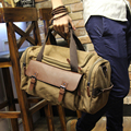 Hombres Vintage Lienzo Bandolera bolsa de Viaje de Gran Capacidad Portátil Equipaje En Movimiento Diario Bolso Bolsa