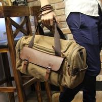 Men's Vintage Travel Bag Shoulder bag Large Capacity Canvas Tote Portable Luggage Moving Daily Handbag Bolsa