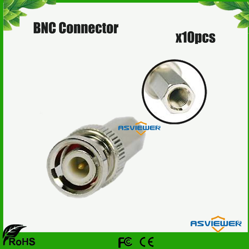 CCTV Security System Use Twist-on BNC Connector Male RG59 For CCTV Cameras 10pcs/lot
