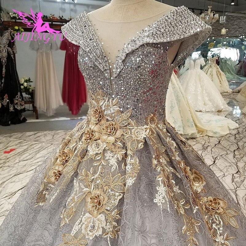 AIJINGYU remise robes de mariée salut bas robes Sexy fête grande taille africaine acheter magasin de mode robe Tulle Vintage robe de mariée