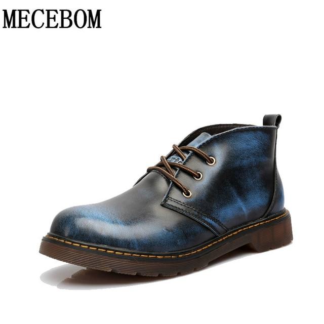 Nueva Llegada Bullock zapatos Hechos A Mano de cuero Genuino super caliente botas de invierno de Los Hombres Casuales estilo Británico botas de Nieve para hombre Size35-47