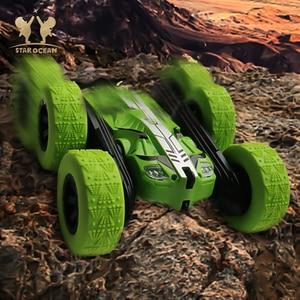 Image 4 - RC รถ Rock Crawler ม้วน 2.4G 4CH Stunt Drift Deformation รถ Buggy 360 องศาเด็กหุ่นยนต์ RC ของเล่นรถ