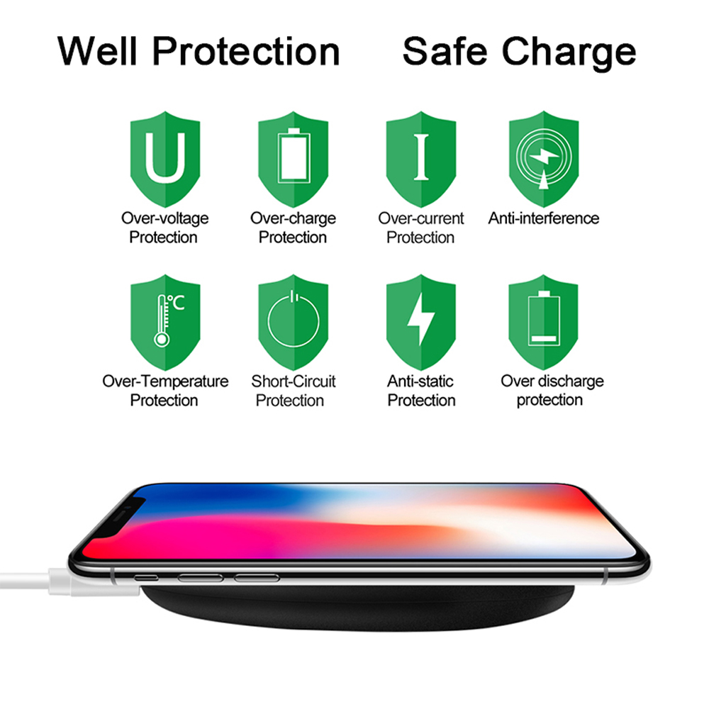 Image 3 - NTONPOWER Qi Wireless Charger For iPhone X XR XS 8 plus 10W Wireless Fast Charging pad for Samsung Xiaomi Huawei-in Mobile Phone Chargers from Cellphones & Telecommunications