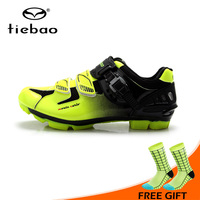 TIEBAO Professional Bike Cycling Shoes Unisex MTB Mountain Racing Shoes Waterproof Athletic Self Locking zapatillas de ciclismo