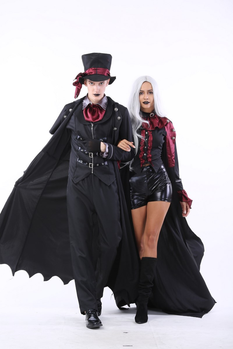 halloween vampire cosplay costume adult punk style fancy party costumes stage devil zombie costume l0516 - Halloween Punk Costume