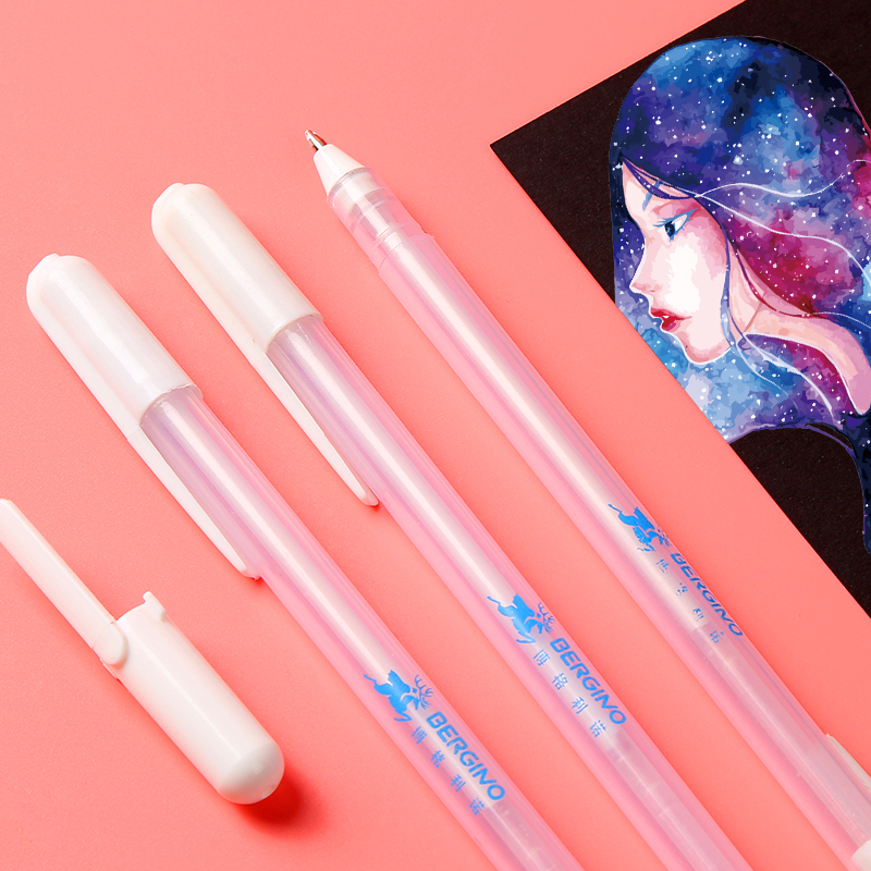 1Piece 0 7mm Professional White Highlighter Pen Marker Pen Liner Sketch Markers Scribble Pen Manga Design School Art Supplies in Art Markers from Office School Supplies
