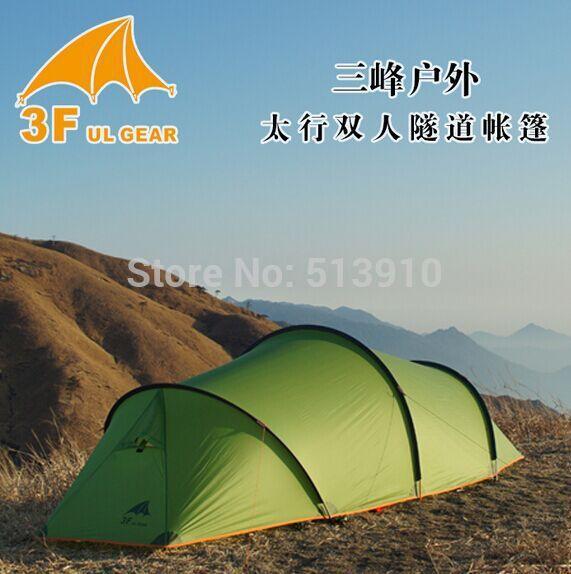 3F UL Vitesse 210 T 4 saison aluminium pôle 2 personsTunnel randonnée famille beach party de pêche alpinisme camping en plein air tente