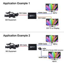 лучшая цена Luiizans 3G SDI to HDMI+DVI Converter Allows SD-SDI HD-SDI and 3G-SDI Signals Shown on HDMI and DVI Output Displays