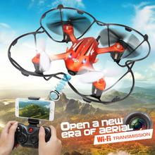 JJRC H6W WIFI Real-time FPV Transmission 2.4G 4CH 6 Axis Gyro RC Helicopter One Press Return Quadcopter dron camera drone VS M61