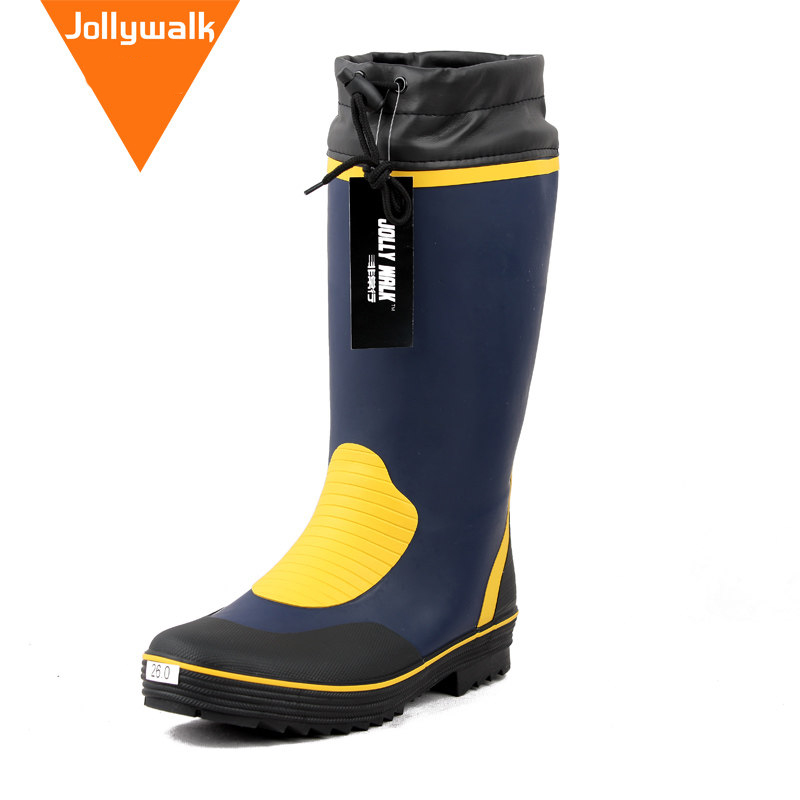 100% Waterproof Motorcycle 4 seasons Rain Boots non-slip Rubber shoes Racing boots Plug size Men outdoor boot
