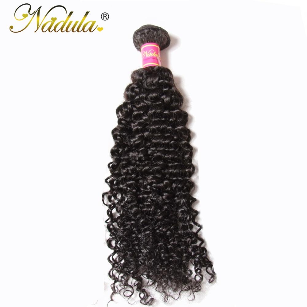 Paquetes de tejido de cabello rizado rizado peruano de Nadula Hair - Cabello humano (negro)