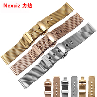 Nexuiz Watchbands 18mm 20mm 22mm High Quality Stainless Steel Bracelet Strap With Butterfly Buckle Free Shipping