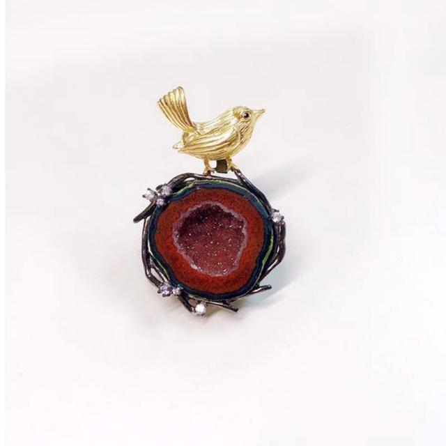 Natural Agate Fine Jewellery Silver Necklace Animal Pendant10
