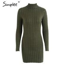 Sweater Dress Women Cotton Autumn Winter