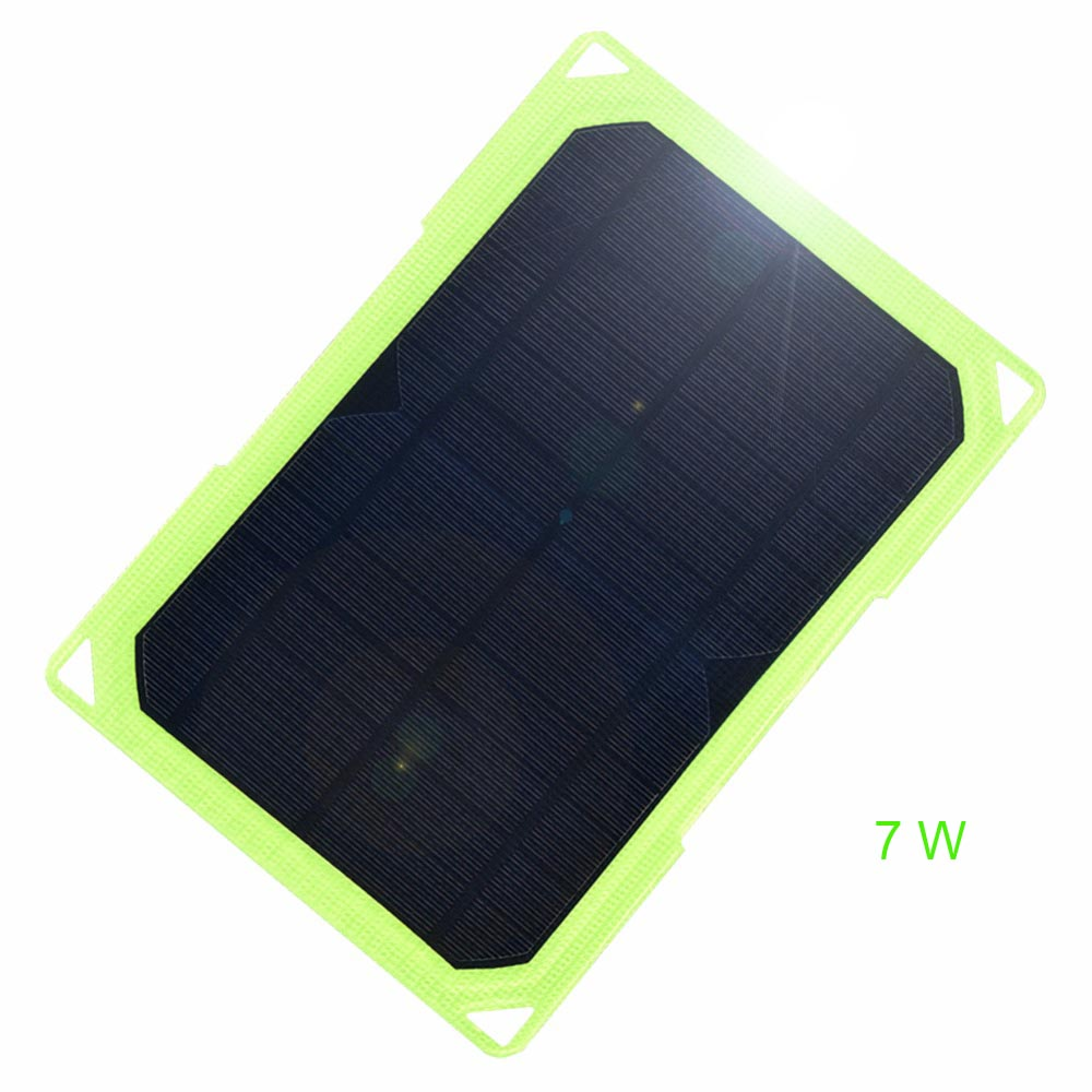 Xinpuguang ETFE 7W 6V USB flexible Solar Panel portable Charger Dual mobile outdoor Power Bank for Phone Hiking climb camping image