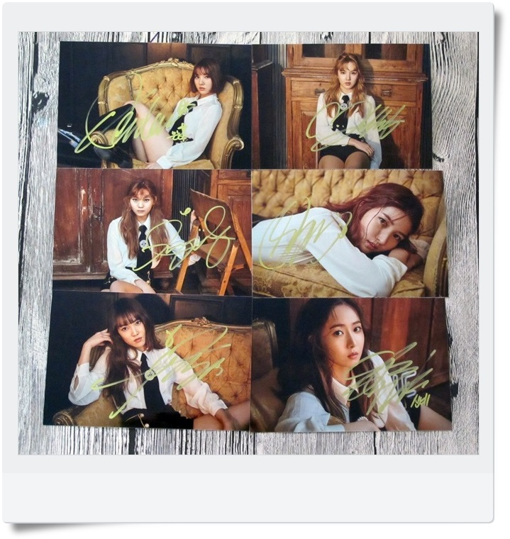 signed GFRIEND autographed  original photo 6 inches 6 photos set freeshipping 062017 B version snsd yoona autographed signed original photo 4 6 inches collection new korean freeshipping 02 2017 01