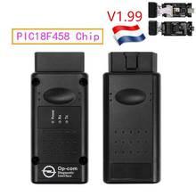 2019 op com  V1.99 with PIC18F458 FTDI op-com OBD2 Auto Diagnostic tool for Opel OPCOM CAN BUS V1.7 can be flash update