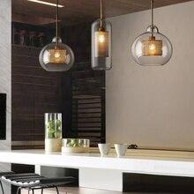 Postmodern İskandinav demir cam kabarcıklar LED kolye ışıkları yemek odası için mutfak restoran süspansiyon armatür lambası