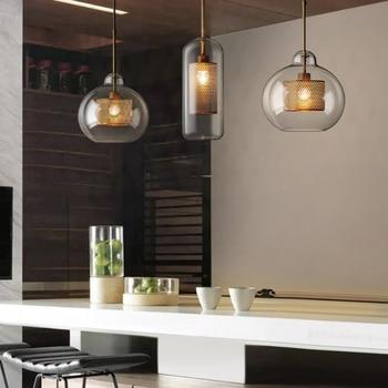 Postmoderno nórdico hierro vidrio burbujas LED luces colgantes para Comedor  Cocina restaurante suspensión luminaria lámpara