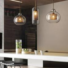 ما بعد الحداثة الشمال الحديد الزجاج فقاعات قلادة led أضواء لغرفة الطعام المطبخ مطعم تعليق الإنارة مصباح