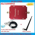 Venda quente mini UMTS WCDMA 2100 Mhz 3G Repetidor Reforço de Sinal, 3g cell phone signal booster repetidor amplificador + antena Yagi 13dbi