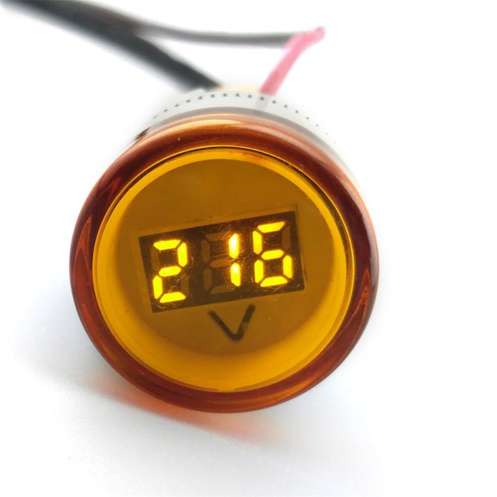 22 мм tomzn AC 60-500 В светодиодный вольтметр Индикатор Пилот светло-красный желтый и зеленый цвета белый синий