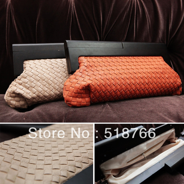 Woven PU Leather New Designer Women Bag Day Clutch Hot Fashion Evening Party Bag Handbag  Free Shipping Wholesale/Retail