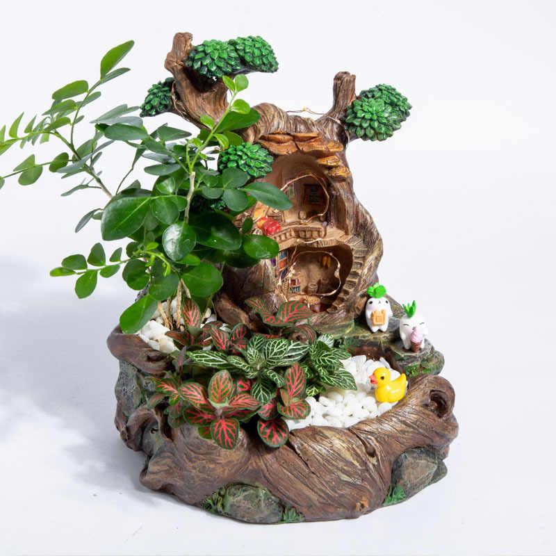 Thiết Kế Ban Đầu Nhựa Lọ Hoa Led Thực Vật Mọng Nước Dụng Cụ Bào Nồi Thời Thơ Ấu Nhà Cây Thiết Kế Dụng Cụ Bào Cho Cây Cảnh XƯƠNG RỒNG