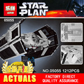 LEPIN 05055 1212 Unids Star Wars Vader TIE Modelo Kit de Construcción de aviones de combate avanzados Bloques Ladrillos Compatibles Juguetes de Los Niños
