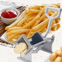 Potato French Fry Fruit Vegetable Cutter Slicer Home Hand Stainless Steel &Aluminum Shredders & Slicers