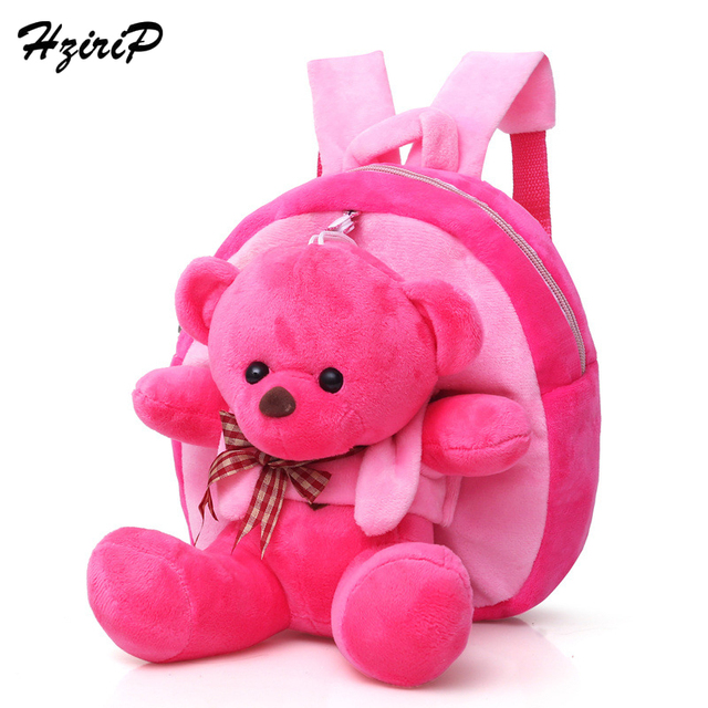 e150308f9905 Hzirip 2018 Children Baby Cute Cartoon Bear School Bags Kids Plush Toy  Backpacks Mini Toddler Kindergarten Backpack Girls Boys