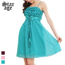 f788569f54 L-3xl más tamaño cinta plisada gasa vestido sexy party Vestidos Vestido  corto vestido para