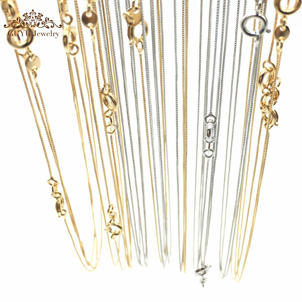 (0.6MM/18in)2016 New fashion 18K Gold-plated necklace Venice long necklaces wholesale chain necklace with Lobster clasp