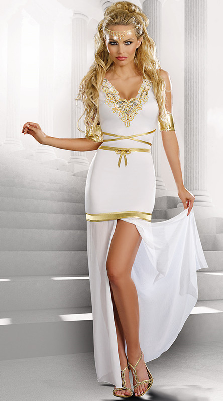 2015 Dress Women Cosplay Classic Halloween Costumes Cleopatra Game costumes  Exotic apparel Greek goddess dress suit hot selling-in Dresses from Women s  ... ed60d3f9282a