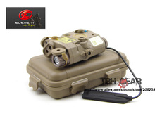 Element LA PEQ15 Tactical Flashlight Red Laser Sight Combo With IR Infrared DE Free shipping E040041