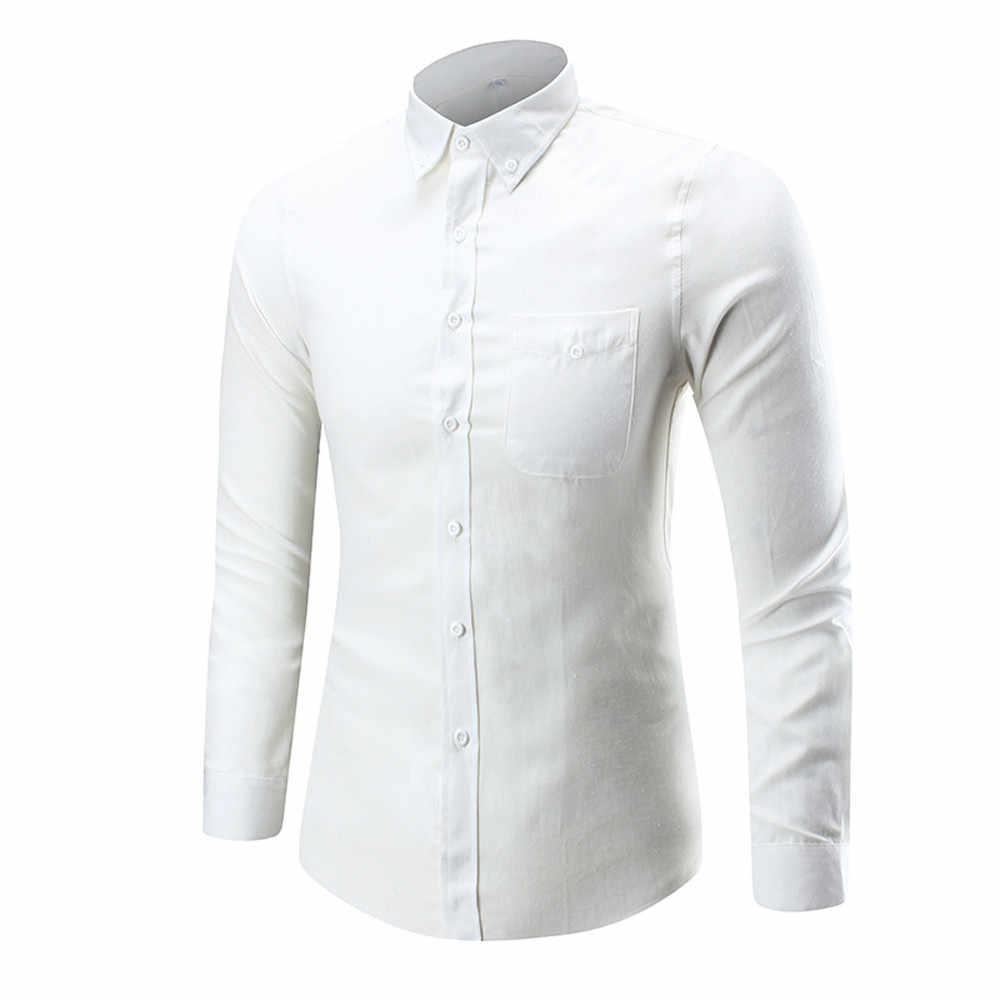 メンズ長袖オックスフォードフォーマルカジュアルスーツスリムフィット Tシャツドレスシャツブラウストップ 4XL サポート卸売ドロップシップ