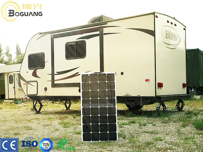 Boguang solar panel 1pcs100W flexible Sunpower panel 12V solar cell/module/system RV/car/marine/boat battery charger for outdoor