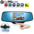 Gama Tour 4.3 polegada Full HD 1080 P Espelho Retrovisor Do Carro DVR Camera + Estacionamento Night Vision Rear View Camera Video Recorder Traço Cam